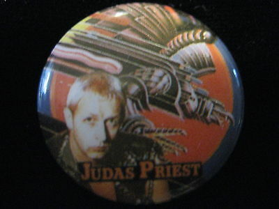 Judas Priest-Rob Halford-Heavy Metal-Pin Badge Button-80's Vintage-Rare
