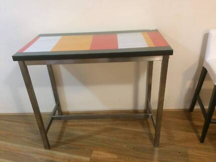 Utby bar table dining tables gumtree australia canterbury area bar table with glass topper watchthetrailerfo