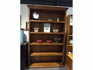 HOMESTEAD BOOKCASE/DISPLAY SHELF SOLID TIMBER IN BLACKWOOD COLOR Ravenhall Melton Area Preview