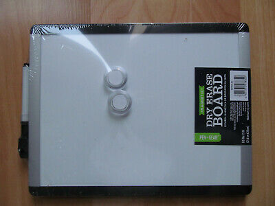 8.5 X 11 Dry Erase White Board With Marker And Magnet Buttons