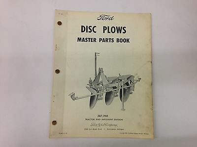 Ford Fordson Tractor Disc Plow Master Parts Book
