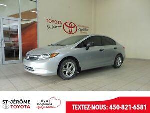 2012 Honda Civic * DX * MANUELLE * MAGS * VITRES  ÉLEC. *