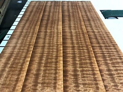 Sapele Quilted Wood Veneer Qtr 4 Sheets 40 X 5 34 .7 Thickness
