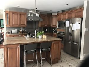 Complete high-end kitchen island