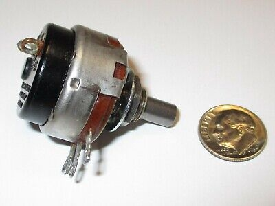 Allen-bradley 10k Ohm 2 Watt Potentiometer Wswitch Linear Refurbished