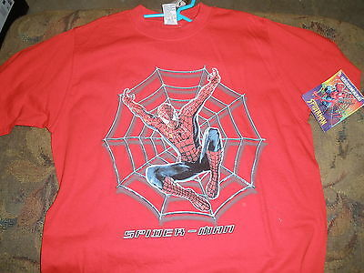 NEW boys long sleeve spiderman t-shirt 10/12 red