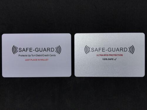5x Safe Guard®️RFID Credit/Debit Card Wireless Illegal Bl