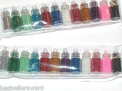 12 Los Glas Klein Trank Flaschen Set Fläschchen Anhänger Gefüllt Feenhaft ()