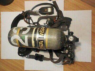 Msa Airhawk Harness Tank Scba 2216 Psi 30 Min Carbon Tank Cylinder 05
