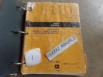 John Deere Jd350-c Crawler Loader Bulldozer Parts Manual Pc-1480