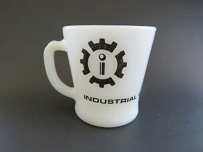 Vintage Fire King Milk Glass Mug Industrial Equipment Co Ltd Advertising