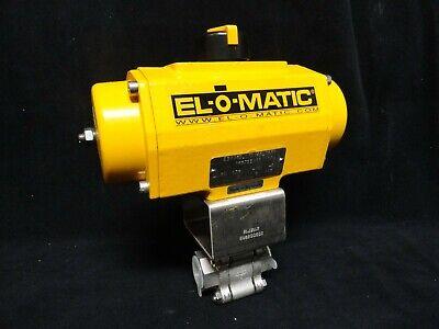 New El-o-matic Pneumatic Actuator Es0065 With Habonim 34 Ss Ball Valve