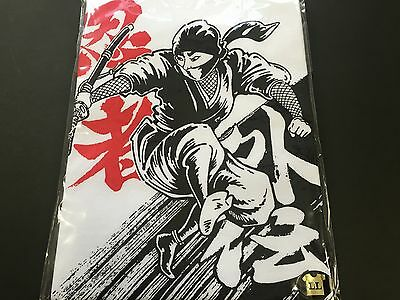 Ninja T (New Japanese Ninja T-Shirt WHITE LL Size Cotton 100% T Shirt from JAPAN)