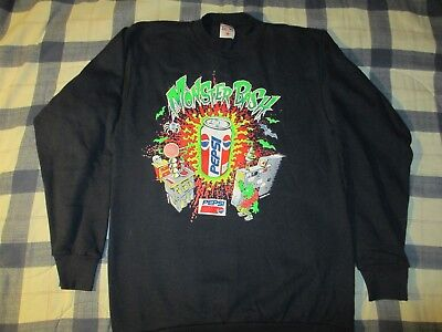 Vintage Pepsi Monster Bash 90s Promotional Sweatshirt Original Rare