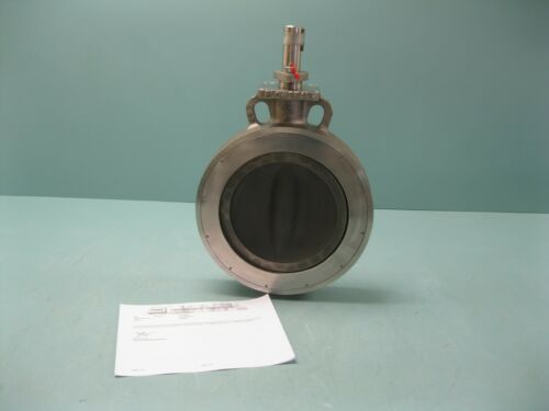 """10"""" 150# Crane Flowseal Wafer 1WA-272MGS Butterfly Valve SS x SS NEW P20 (2493)"""