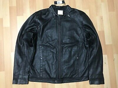 NWT Mens Diesel Black LADERRY R SHEEPSKIN Leather Jacket Black XL P2P23.5 L25