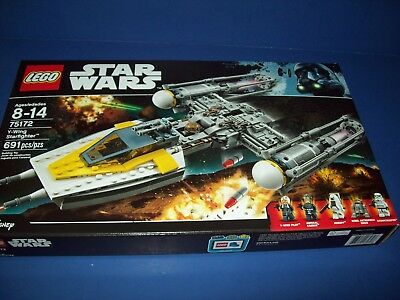 Lego 75172  Star Wars Y Wing Starfighter Sealed 691 Pieces 5 Minifigures
