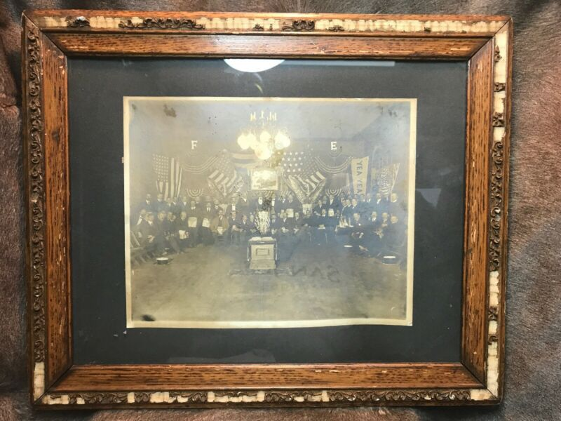 Antique Photograph Of The Fraternal Order Of Eagles Aka F.O.E Founded 2/6/1898!