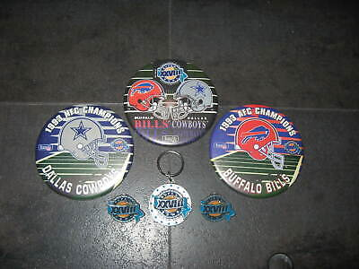Super Bowl XXVIII Dallas Cowboys & Buffalo Bills Key Chain Pins & Buttons Buffalo Bills Key