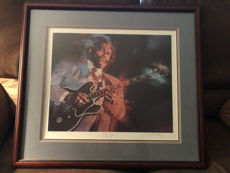 BB KING Print Artist Proof #3 of 65 Signed by BB King and the artist CM Dudash