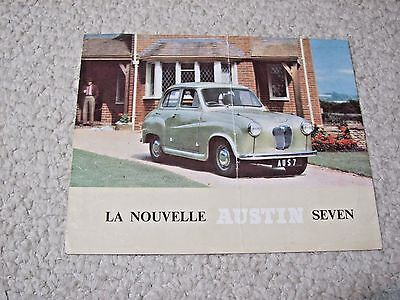 1950's AUSTIN SEVEN (UK) SALES BROCHURE !!!