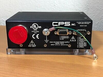 Cps Inc. High Voltage Power Supply Model 2591p Single Output Unipolar Program