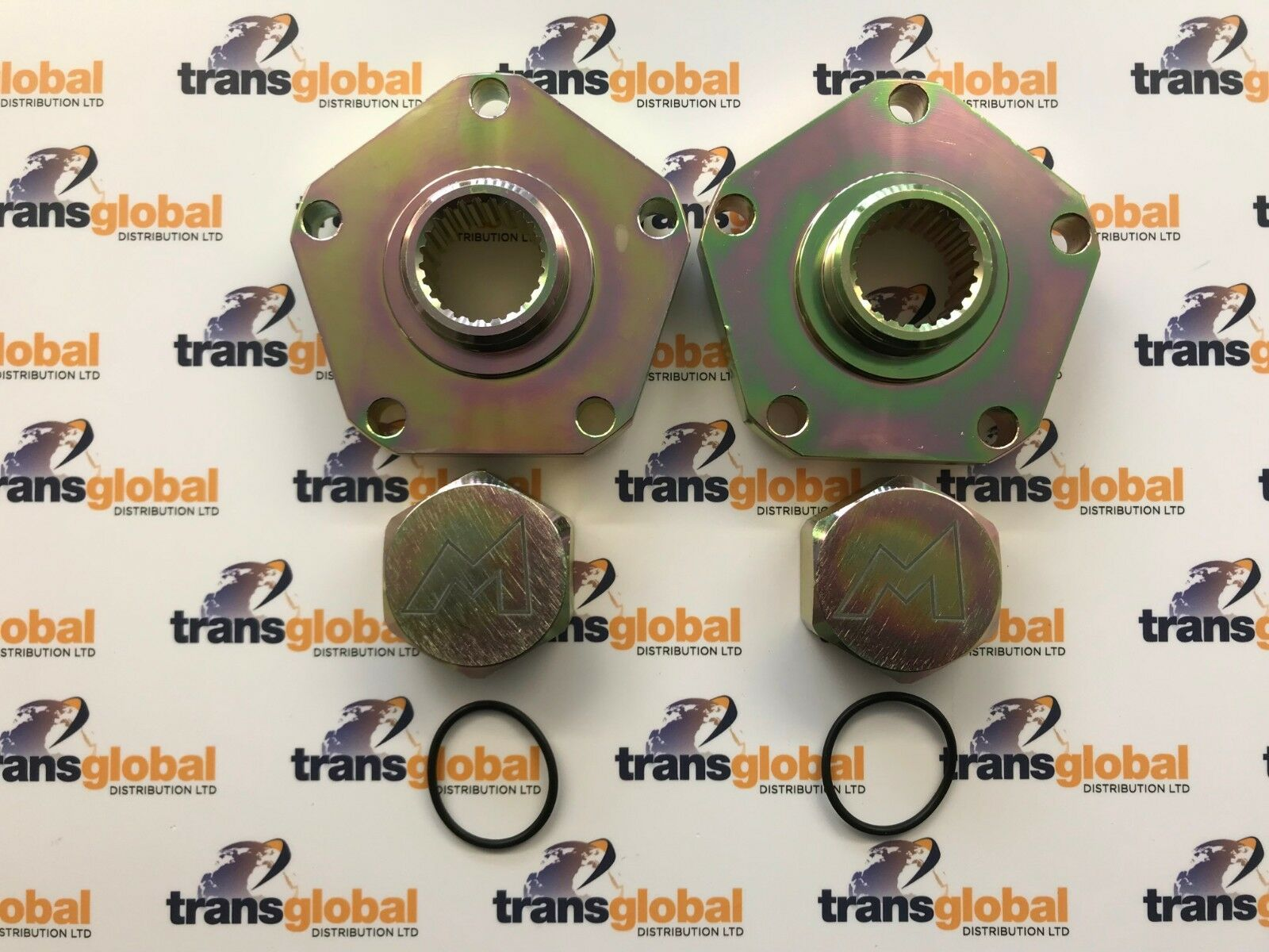 HEAVY DUTY 24 Spline Hub Drive Flange x2 for Land Rover Discovery 1 Terrafirma