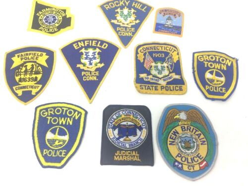 Lot 10 Connecticut Police Patch Rocky Hill Enfield Old Saybrook Groton Fairfield