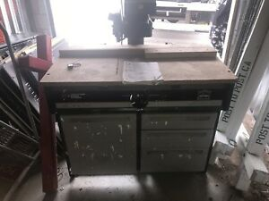 Craftsman radial arm saw and cabinet