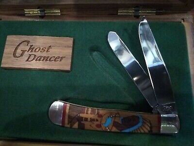 Case XX Exotic Custom Series 1994 Limited Edition Ghost Dancer Trapper Knife