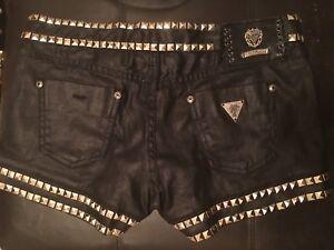 GUESS studded denim shorts, size 26
