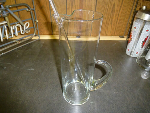 VTG Glass Martini Pitcher w/ Stir Stick.