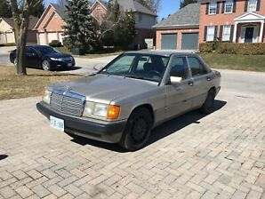 1993 Mercedes 190E 4 cylinder Very clean  No rust 2 owners $4500