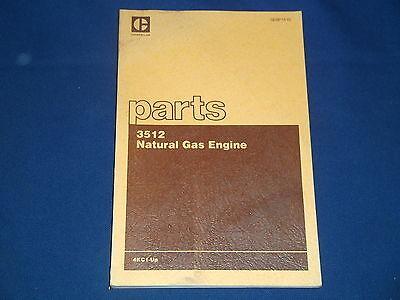 Cat Caterpillar 3512 Natural Gas Engine Parts Book Manual Sn 4kc1-up