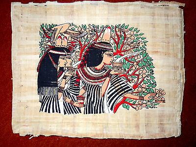 Ägypten  Papyrus-Bild 30 x 42 Pharaonenkinder im Beerenwald