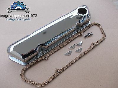 VOLVO AMAZON 121 122  P1800  PV 544 140 VALVE COVER KIT CHROME NEW ! for sale  Shipping to Canada
