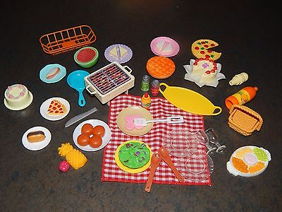 Barbie Vintage Food and Dish Lot Grill Picnic Food More Diarama