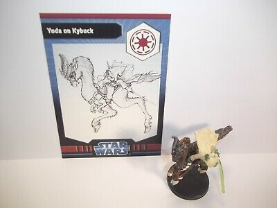 Star Wars Miniatures - Yoda on Kybuck 20/40 + Card - Very Rare - Clone Wars