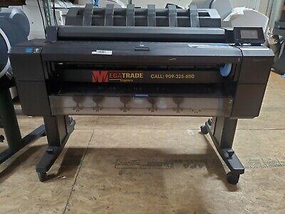 Hp Designjet T2500 36-inch Color Inkjet Wide Format Printer Scanner Low Meter