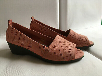 The Flexx Damen Schuhe, Pumps, Open Toe, Keilabsatz - altrosa - Größe 38 1/2  2 Open Toe Pump