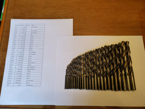 VINTAGE Fractional Drill Bits ~ nearly complete 29 piece set ~ China