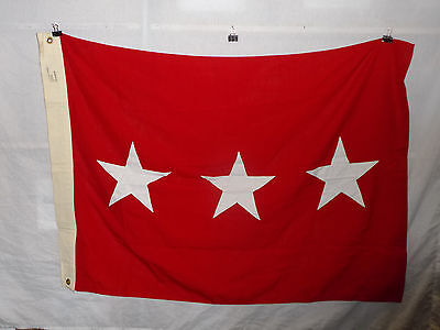 flag786 US Army 3 Star Lieutenant General Service Flag wool Valley Forge W9E