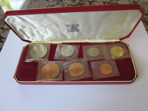 Seychelles 1969 Proof Set with original case; Full 7 coin set     PRICE REDUCED