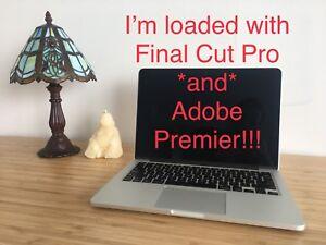 """MacBook Pro 13.3"""" w Final Cut Pro + Adobe Premier"""