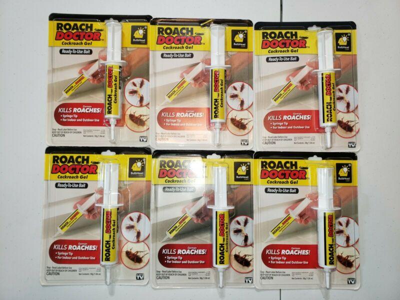 LOT of 6 NEW Roach Doctor Cockroach Gel BulbHead Pest Bait Control Syringe NIB