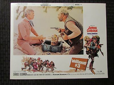 1967 WATERHOLE #3 Original 14x11 Lobby Card VG-/FN- LOT of 3 James Coburn