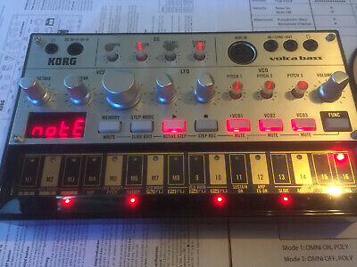 Korg volca bass Keyboard Synthesizer, No mods, sync cable, Functions Perfectly