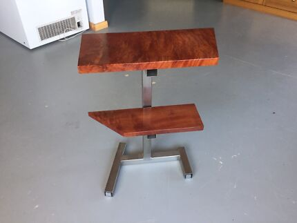 side table stainless/ myrtle