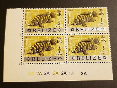Belize Scott 312 Stamp Plate Scratch Variety (see all pictures)