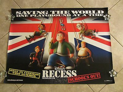 Recess School's Out movie poster 30 x 40 inches - Walt Disney original UK poster